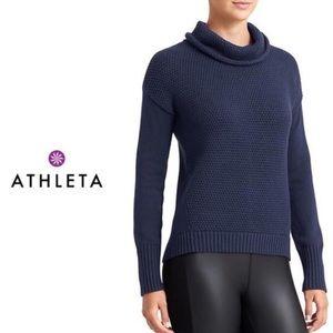 Athleta Breckenridge Heavy Knit cowl neck sweater, Size M